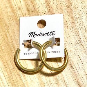 Madewell chunky gold hoops Medium